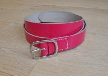 1 inch patent pink belt