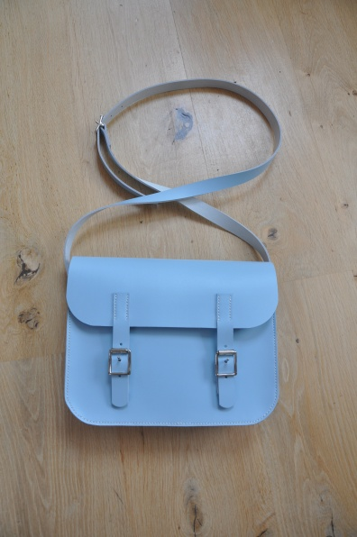 Small Blue Satchel