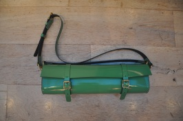 Flute case in patent apple green