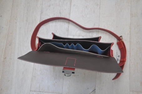 Satchel/Briefcase with laptop, pen, glasses case and phone inserts